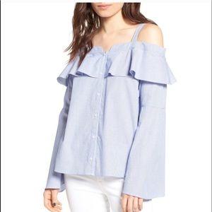 Trouve cold shoulder shoulder blouse